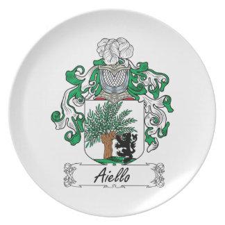 Escudo de la familia de Aiello Platos Para Fiestas