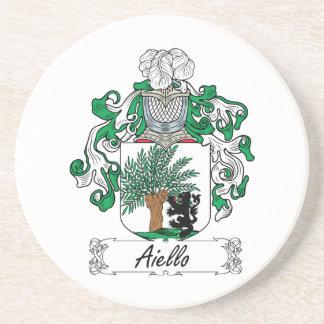 Escudo de la familia de Aiello Posavasos Personalizados