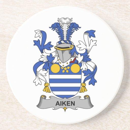 Escudo de la familia de Aiken Posavasos Para Bebidas