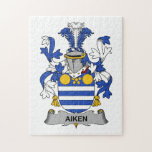 Escudo de la familia de Aiken Rompecabeza Con Fotos