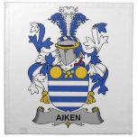 Escudo de la familia de Aiken Servilleta Imprimida