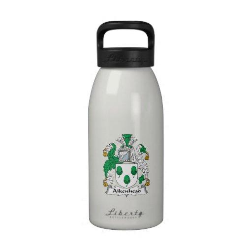 Escudo de la familia de Aikenhead Botellas De Agua Reutilizables