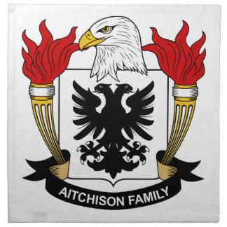 Escudo de la familia de Aitchison Servilleta
