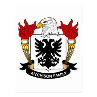 Escudo de la familia de Aitchison Tarjeta Postal
