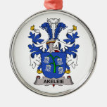 Escudo de la familia de Akeleie Ornamento Para Reyes Magos