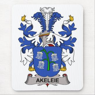 Escudo de la familia de Akeleie Alfombrillas De Ratón