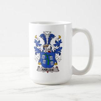 Escudo de la familia de Akeleie Taza De Café