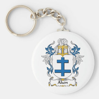 Escudo de la familia de Aken Llavero Redondo Tipo Pin