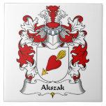 Escudo de la familia de Akszak Azulejo Cerámica