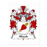 Escudo de la familia de Akszak Tarjeta Postal