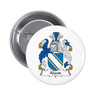 Escudo de la familia de Aland Pin Redondo 5 Cm