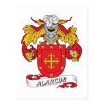 Escudo de la familia de Alarcon Tarjeta Postal