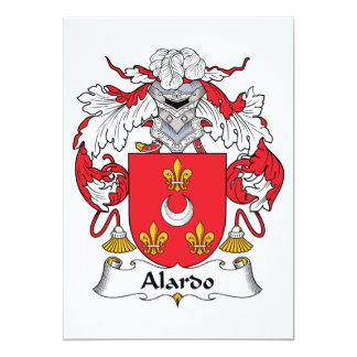 """Escudo de la familia de Alardo Invitación 5"""" X 7"""""""