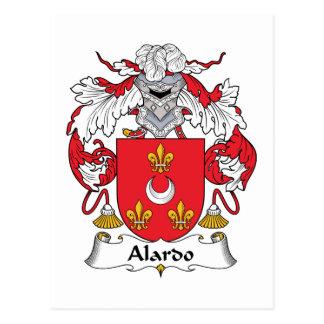 Escudo de la familia de Alardo Tarjeta Postal