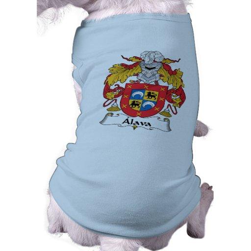 Escudo de la familia de Alava Playera Sin Mangas Para Perro