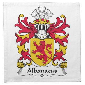 Escudo de la familia de Albanacus Servilleta De Papel