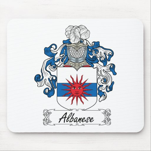 Escudo de la familia de Albanese Alfombrilla De Ratones