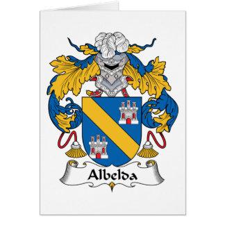 Escudo de la familia de Albelda Tarjeta De Felicitación
