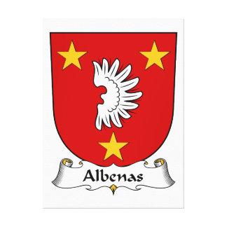 Escudo de la familia de Albenas Impresiones En Lienzo Estiradas