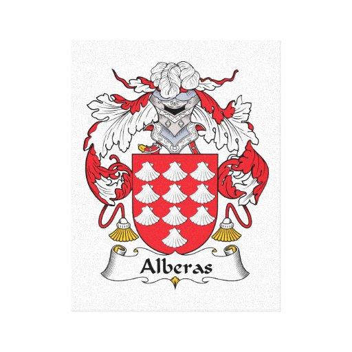 Escudo de la familia de Alberas Lienzo Envuelto Para Galerías
