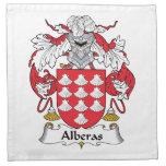 Escudo de la familia de Alberas Servilletas