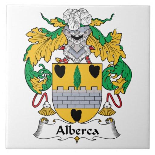 Escudo de la familia de Alberca Azulejo Cuadrado Grande