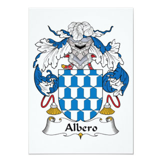 """Escudo de la familia de Albero Invitación 5"""" X 7"""""""