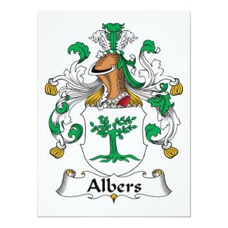 """Escudo de la familia de Albers Invitación 6.5"""" X 8.75"""""""