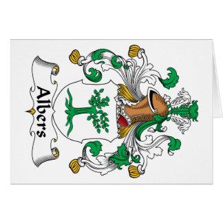 Escudo de la familia de Albers Tarjeta De Felicitación