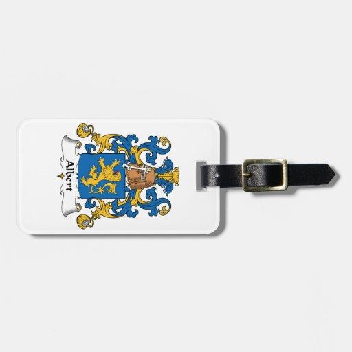 Escudo de la familia de Albert Etiquetas Para Equipaje