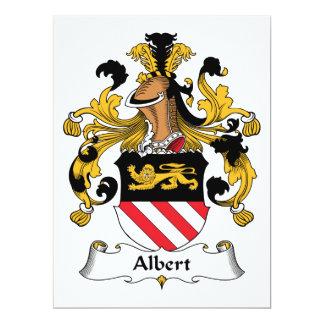 """Escudo de la familia de Albert Invitación 6.5"""" X 8.75"""""""