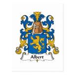 Escudo de la familia de Albert Tarjeta Postal
