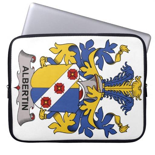Escudo de la familia de Albertin Funda Computadora