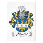 Escudo de la familia de Albertini Invitaciones Personales