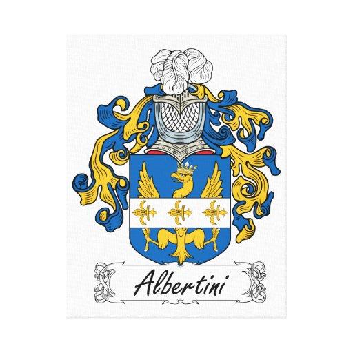 Escudo de la familia de Albertini Impresiones En Lienzo Estiradas