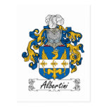 Escudo de la familia de Albertini Postales