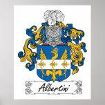 Escudo de la familia de Albertini Poster