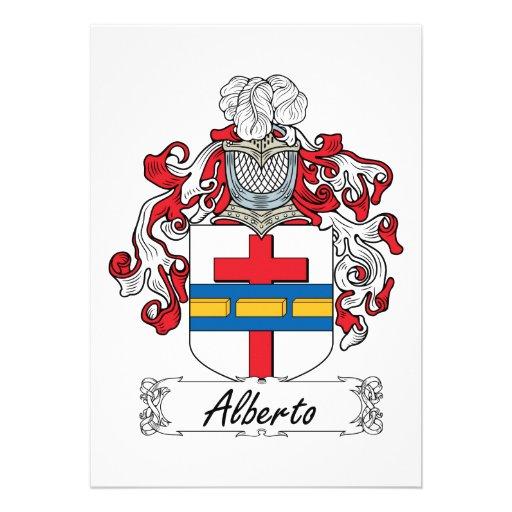 Escudo de la familia de Alberto Comunicados Personalizados