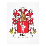Escudo de la familia de Albin Anuncios Personalizados