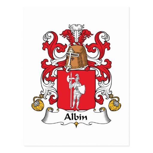 Escudo de la familia de Albin Postales