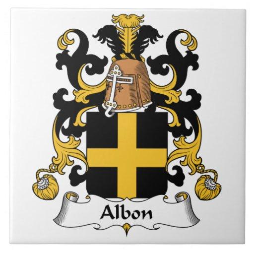 Escudo de la familia de Albon Azulejos