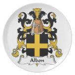 Escudo de la familia de Albon Plato Para Fiesta