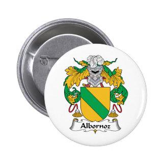 Escudo de la familia de Albornoz Pin Redondo De 2 Pulgadas