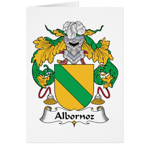 Escudo de la familia de Albornoz Tarjeta