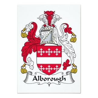 """Escudo de la familia de Alborough Invitación 5"""" X 7"""""""