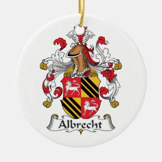 Escudo de la familia de Albrecht Adorno Navideño Redondo De Cerámica