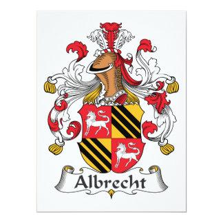 """Escudo de la familia de Albrecht Invitación 6.5"""" X 8.75"""""""