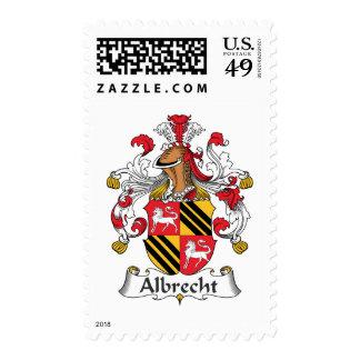 Escudo de la familia de Albrecht Timbre Postal