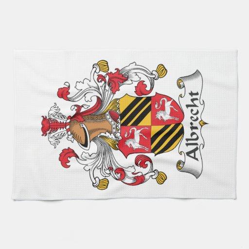 Escudo de la familia de Albrecht Toalla De Mano