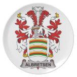 Escudo de la familia de Albretsen Platos De Comidas